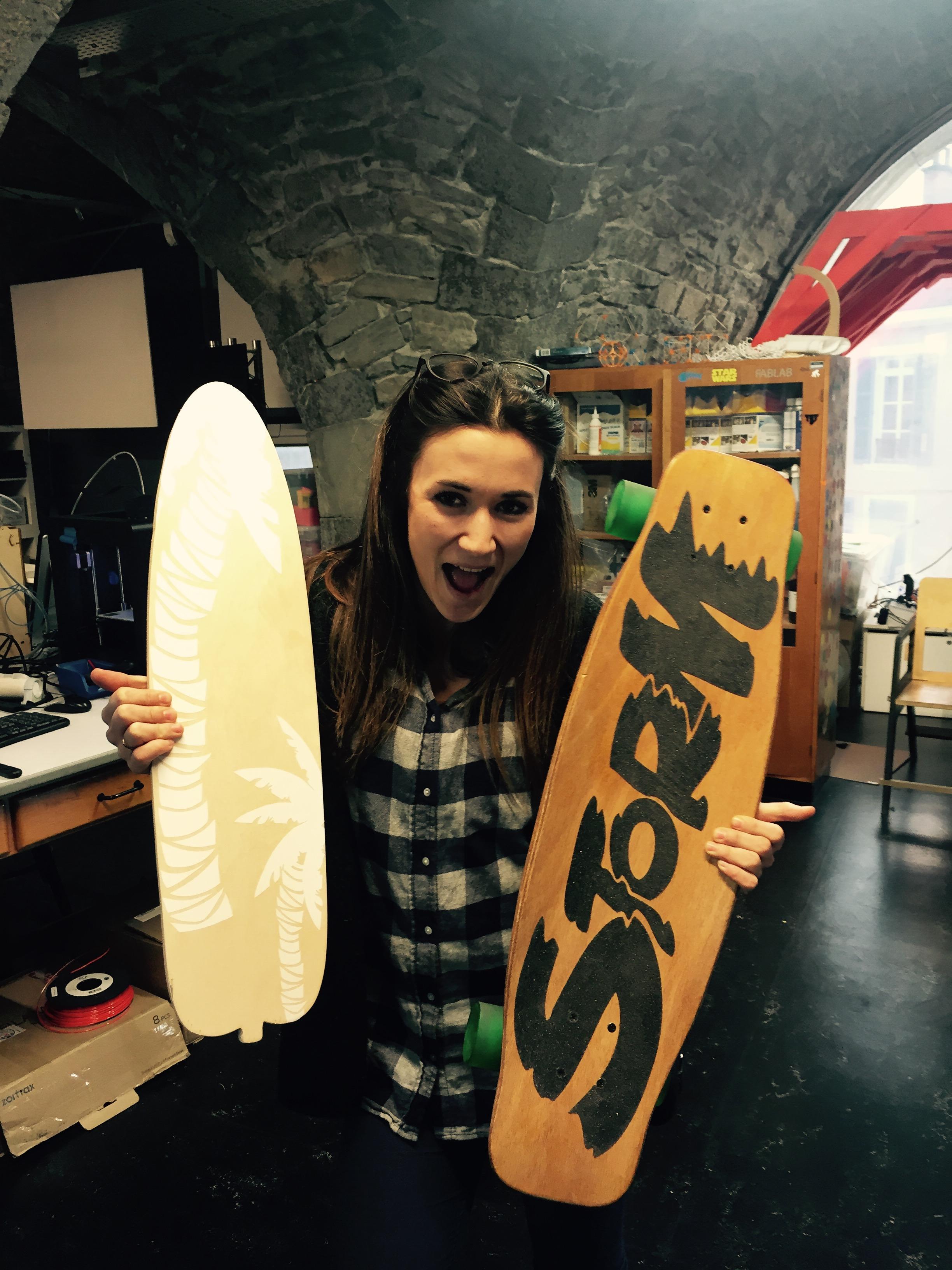 Atelier du fablab cr ation d 39 un skate co responsable les antennes - Creer son skateboard ...